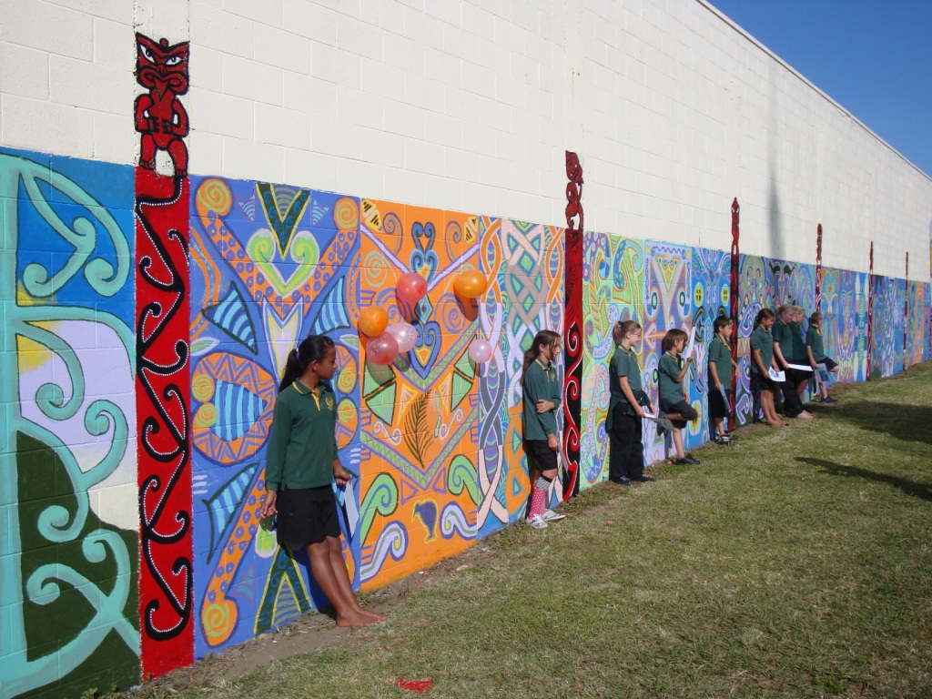 The tindall foundation opotiki youth murals the tindall for Community mural ideas
